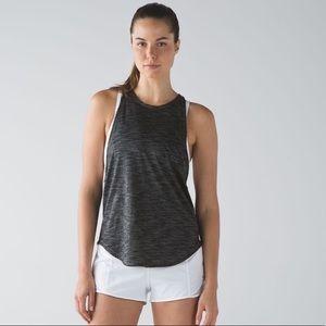 Lululemon sweat date tank in heathered black